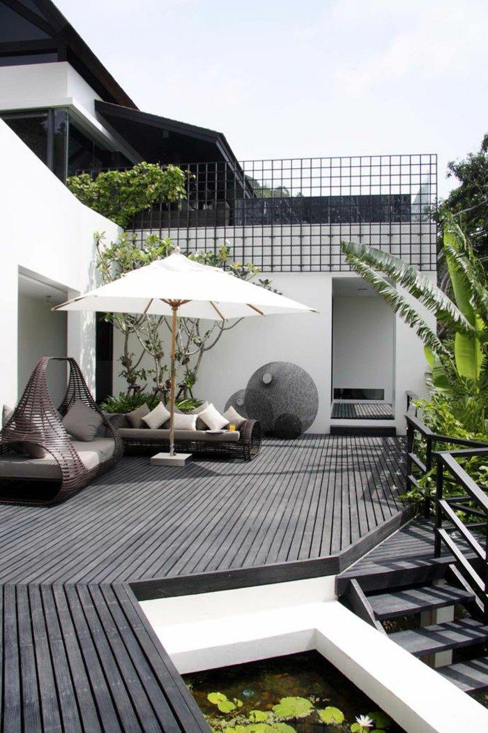 11 choix de terrasses pour vous accompagner au jardin - Terrasse en bois gris ...