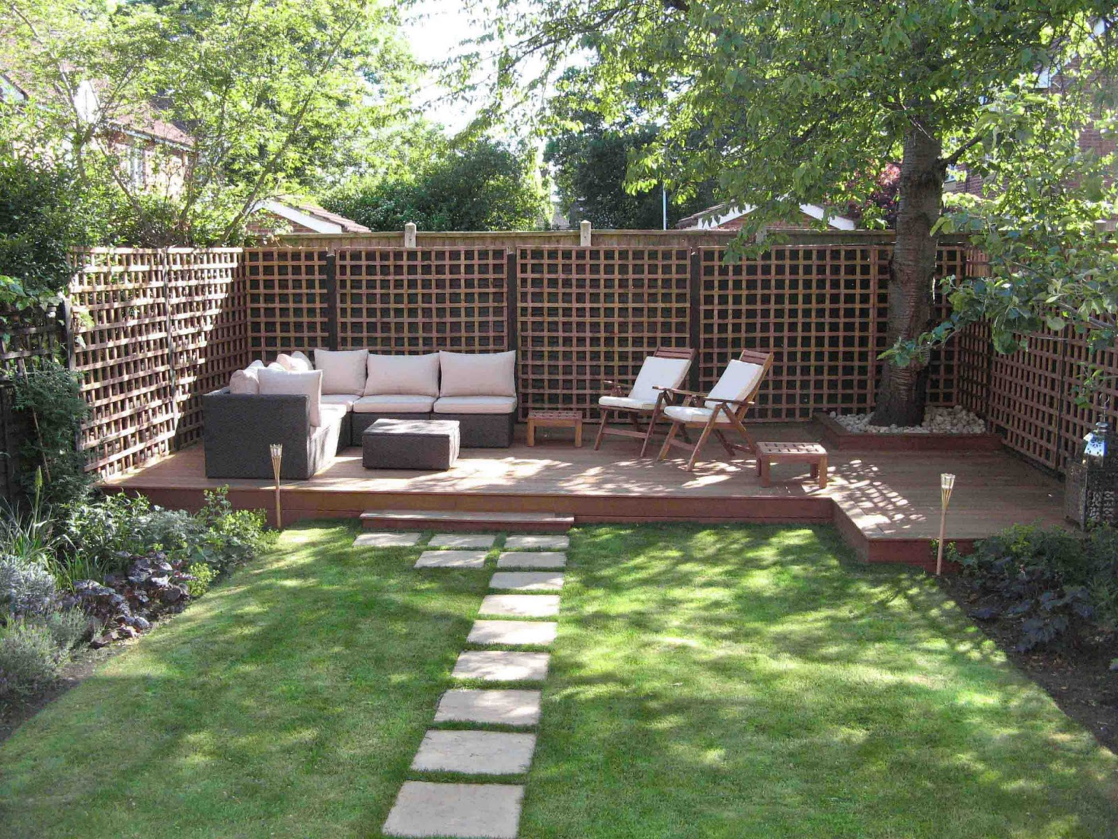 Terrasse Fond Jardin: Mon jardin et la cour ... - 24 photos ...